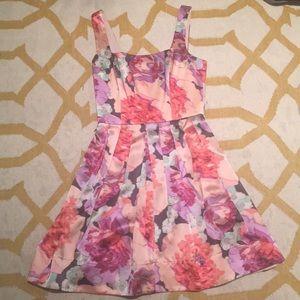 Betsy Johnson silk floral dress